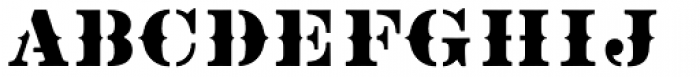 Vtg Stencil US No 2 Tuscan Font UPPERCASE