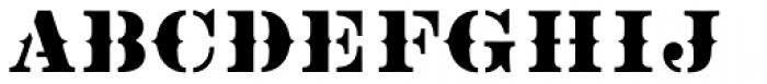Vtg Stencil US No 2 Tuscan Font LOWERCASE