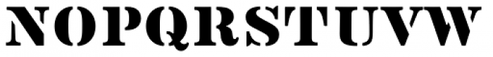 Vtg Stencil US No 2 Font UPPERCASE