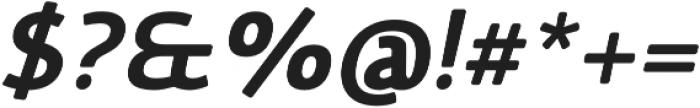Vulgat Bold Italic otf (700) Font OTHER CHARS