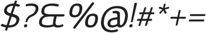 Vulgat Italic otf (400) Font OTHER CHARS