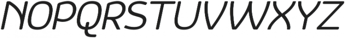 Vulgat Italic otf (400) Font UPPERCASE