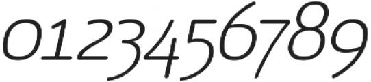 Vulgat Light Italic otf (300) Font OTHER CHARS
