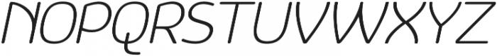 Vulgat Light Italic otf (300) Font UPPERCASE