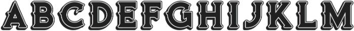 Vultron Bold otf (700) Font LOWERCASE
