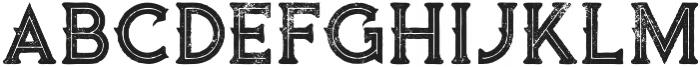 Vultron line grunge otf (400) Font LOWERCASE