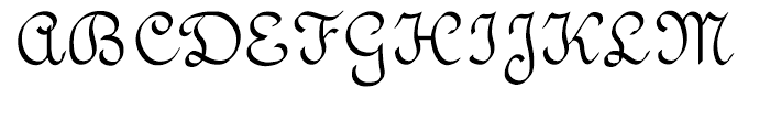 Vunder Script Regular Font UPPERCASE