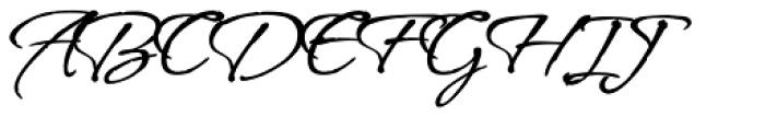 Vujahday Script ROB Font UPPERCASE