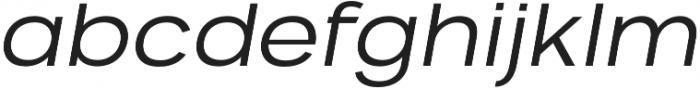 VVDS Benigne Sans ExtraLightItalic otf (200) Font LOWERCASE