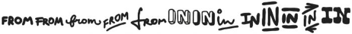 VVDS_Bimbo Catchwords Two otf (400) Font LOWERCASE