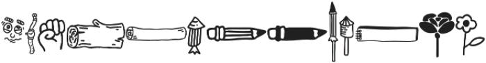 VVDS_Bimbo Decor Three otf (400) Font UPPERCASE
