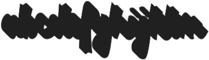 VVDS_Bimbo Script Shadow otf (400) Font LOWERCASE