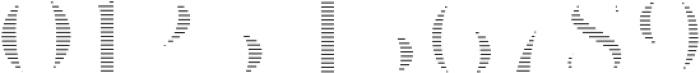 VVDS_Le Bonjour Bold Offset Line otf (700) Font OTHER CHARS
