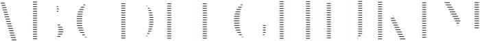 VVDS_Le Bonjour Regular Offset Line otf (400) Font UPPERCASE