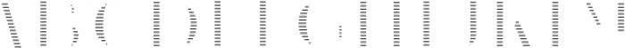 VVDS_Le Bonjour Regular Offset Line otf (400) Font LOWERCASE
