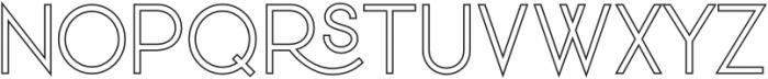 VVDS_Praliner Regular Stroke otf (400) Font UPPERCASE