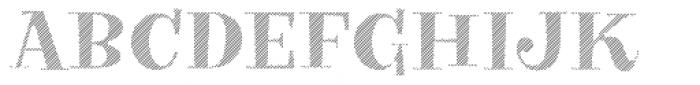 VVDS Big Tickle Hatched Black Font UPPERCASE