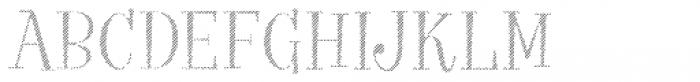VVDS Big Tickle Hatched Light Font UPPERCASE