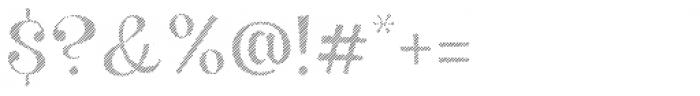 VVDS Big Tickle Hatched Medium Font OTHER CHARS