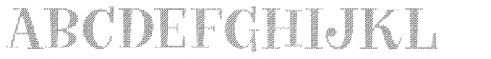 VVDS Big Tickle Hatched Medium Font UPPERCASE