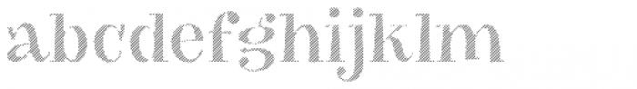 VVDS Big Tickle Hatched Medium Font LOWERCASE