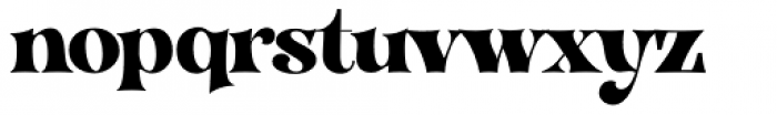 VVDS Organum Extra Bold Font LOWERCASE