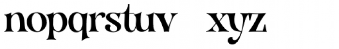 VVDS Organum Normal Font LOWERCASE