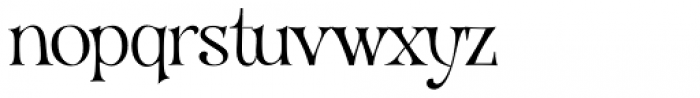 VVDS Organum Thin Font LOWERCASE