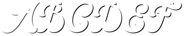 VVDS Pacifica Shadow Font UPPERCASE