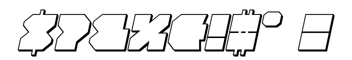 VX Rocket 3D Italic Font OTHER CHARS