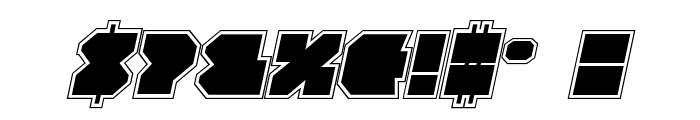 VX Rocket Academy Italic Font OTHER CHARS