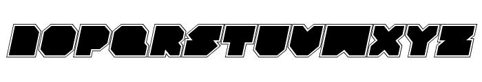 VX Rocket Academy Italic Font UPPERCASE