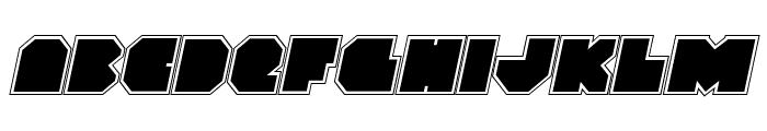VX Rocket Academy Italic Font LOWERCASE