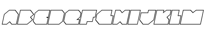 VX Rocket Outline Italic Font UPPERCASE