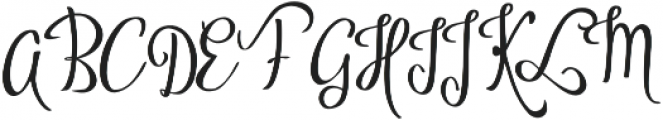 Vytorla Swirls otf (400) Font UPPERCASE