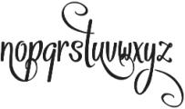 Vytorla Swirls otf (400) Font LOWERCASE