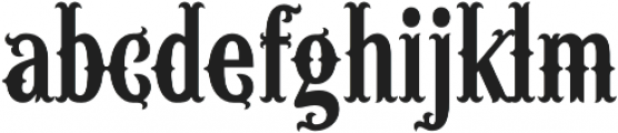 Wacamoler Reg Regular otf (400) Font LOWERCASE