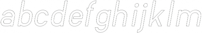 Wafterby Outline Italic otf (400) Font LOWERCASE