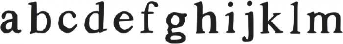 Walker Regular otf (400) Font LOWERCASE