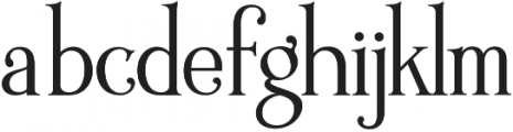 Wallington Pro otf (400) Font LOWERCASE