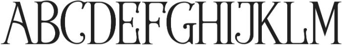 Wallington Pro ttf (400) Font UPPERCASE