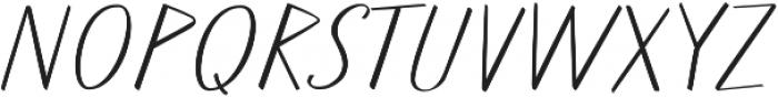 Walls Thin ttf (100) Font UPPERCASE