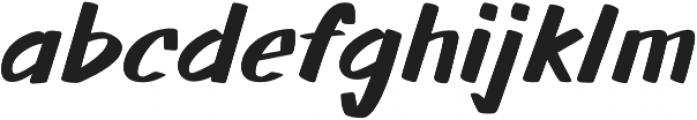 Walls otf (700) Font LOWERCASE