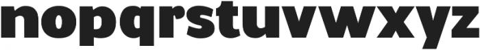 Walrus Bold ttf (700) Font LOWERCASE