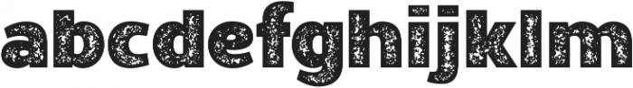 Walrus-Rough Bold otf (700) Font LOWERCASE