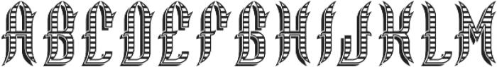 Walsall ShadowAndTexture otf (400) Font LOWERCASE