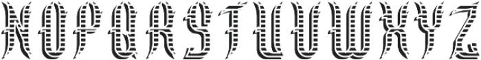 Walsall ShadowAndTextureFX otf (400) Font LOWERCASE