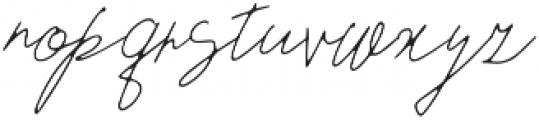 Wanda otf (400) Font LOWERCASE