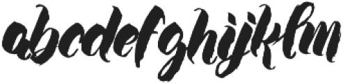 Wanderlove otf (400) Font LOWERCASE