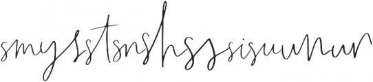 Wanderlust Script Liga1 otf (400) Font OTHER CHARS
